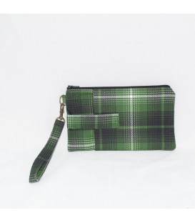 Phone Wristlet, Green Plaid