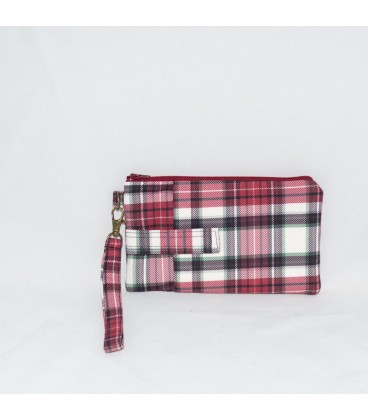 Phone Wristlet, Red Plaid