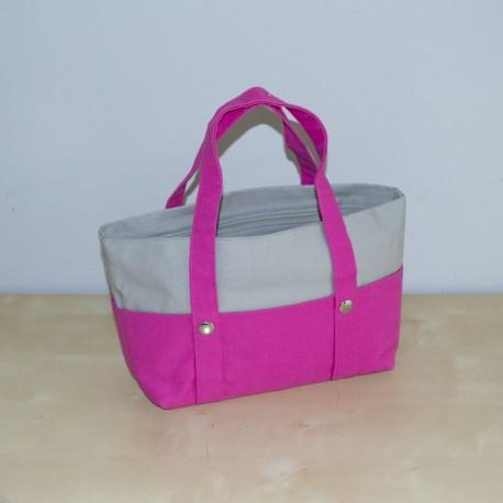 Mini Nautic Tote, Pink / Grey