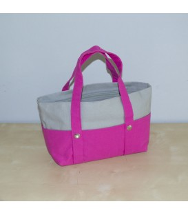 Mini Nautic Tote, Pink / Grey