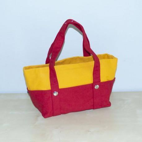 Mini Nautic Tote, Red / Yellow
