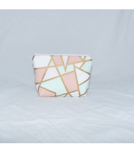 Essential Oil Pouch, Pastel & Gold Geometric