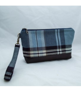 Kellie Wristlet, Blue Plaid