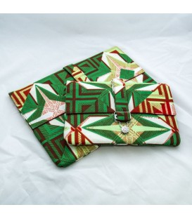Jillian Tablet Case, Green African Print