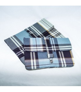 Jillian Tablet Case, Blue Plaid