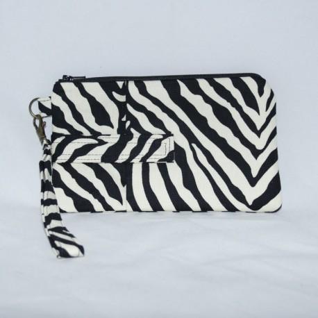 Phone Wristlet, Zebra