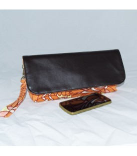 Alexa Crossbody,  Orange Full Bloom
