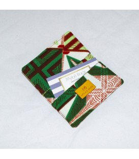 Card Case, Green African Print