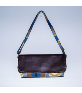 Alexa Crossbody, Blue Damask