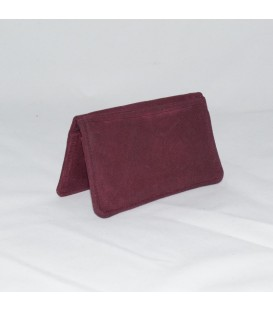 Card Case, Waxed Burgundy