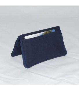 Card Case, Waxed Navy