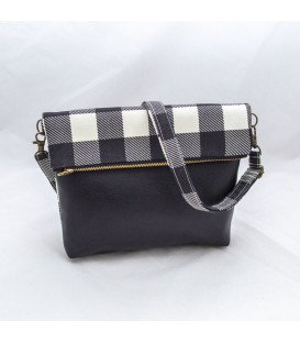 Chloe Crossbody Mini, Gingham Black