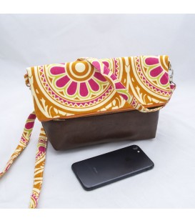 Chloe Crossbody Mini, Orange Print