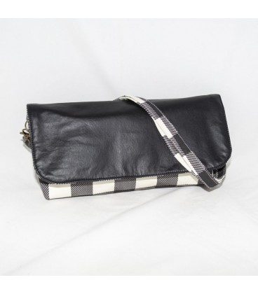 Alexa Crossbody, Gingham Black