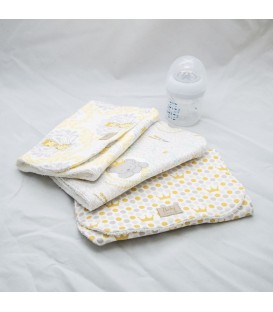 Burp Cloth Set, Crowned (Set of 3)