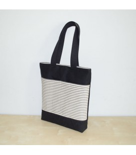 Waxed Canvas Tote, Black