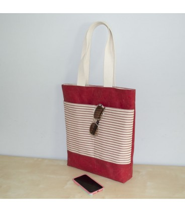 Waxed Canvas Tote, Red