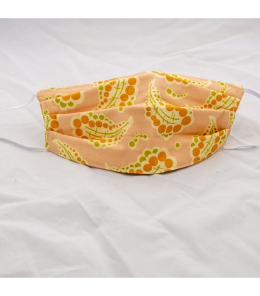 Face Mask, Dotted Paisley in Peach