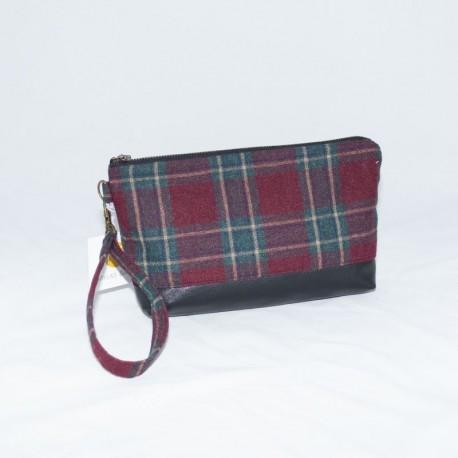 Kellie Wristlet, Red Wool Plaid