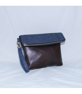 Chloe Clutch, Denim