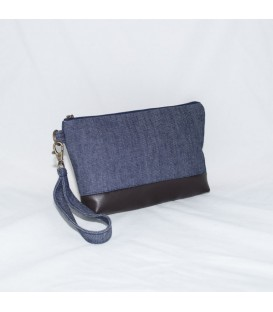 Kellie Wristlet, Denim
